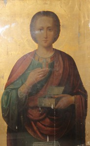 Икона Великомученика и Целителя Пантелеймона писаного на Афоне.